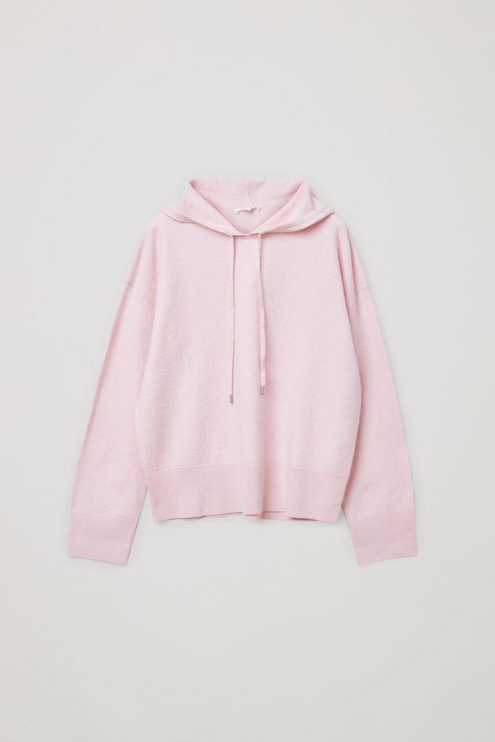 COS 보일드 울 후디드 스웨터의 핑크컬러 Product입니다.