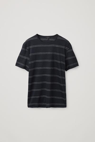 COS default image 10 of 블루 in 레귤러핏 리넨 티셔츠