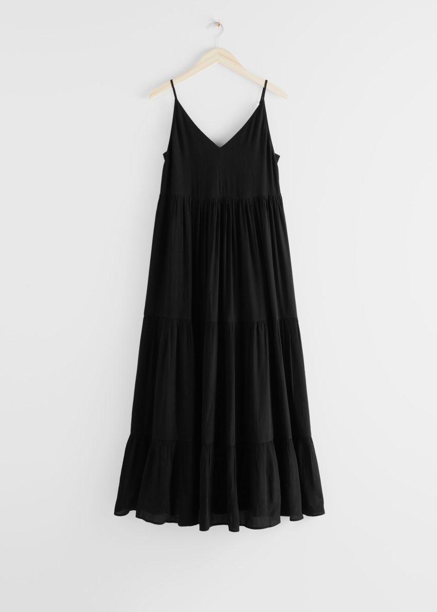 앤아더스토리즈 슬리브리스 릴렉스드 맥시 드레스의 블랙컬러 Product입니다.