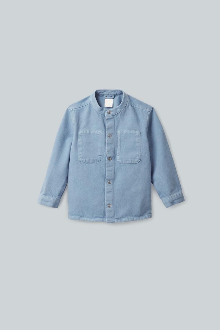 COS default image 8 of 블루 in 스냅 버튼 데님 그랜대드 셔츠