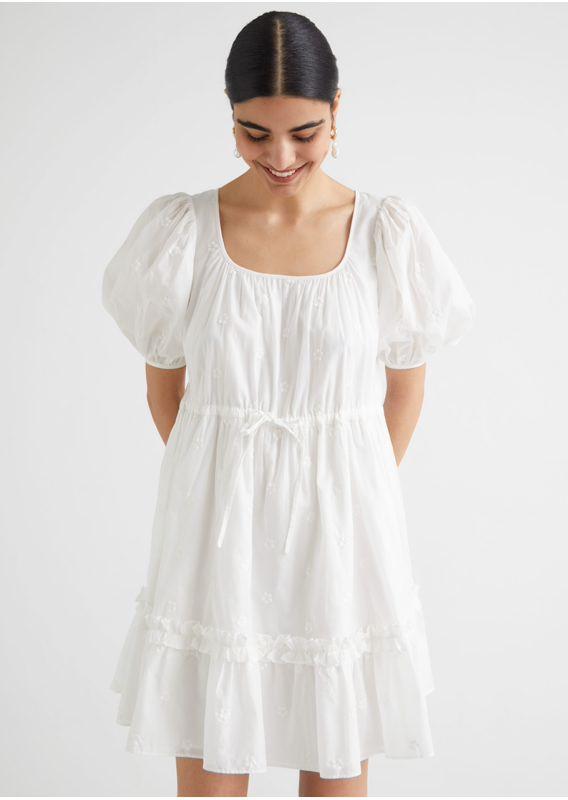 &OS image 6 of  in 티어드 퍼프 슬리브 미니 드레스