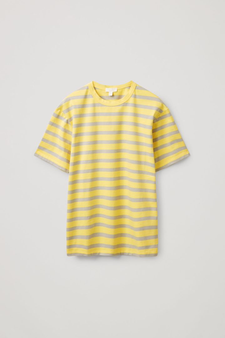 COS hover image 9 of 옐로우 in 릴랙스드 핏 스트라이프 티셔츠