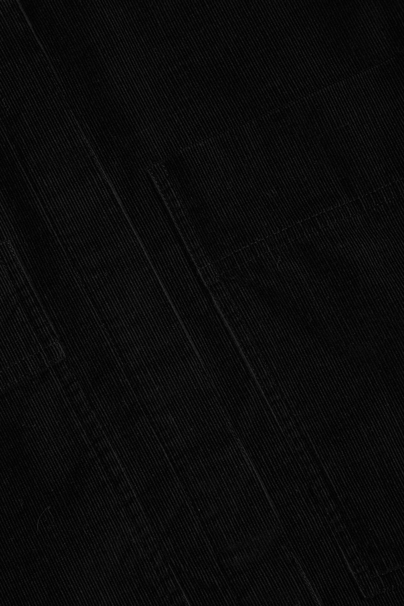 COS 오버사이즈 코튼 셔츠의 블랙컬러 Detail입니다.