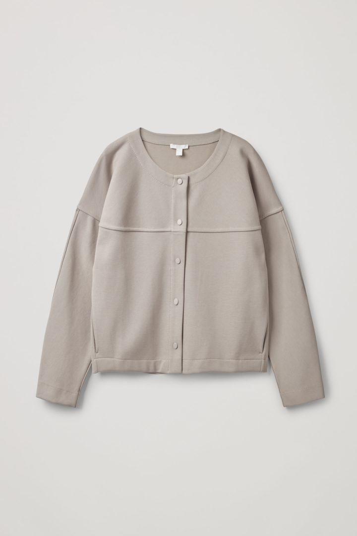 COS 릴랙스드 코튼 믹스 재킷의 베이지컬러 Product입니다.