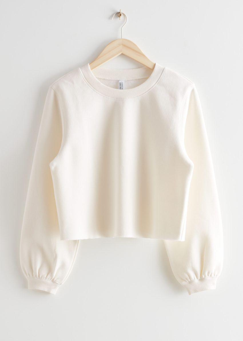 앤아더스토리즈 박시 저지 스웨터의 화이트컬러 Product입니다.
