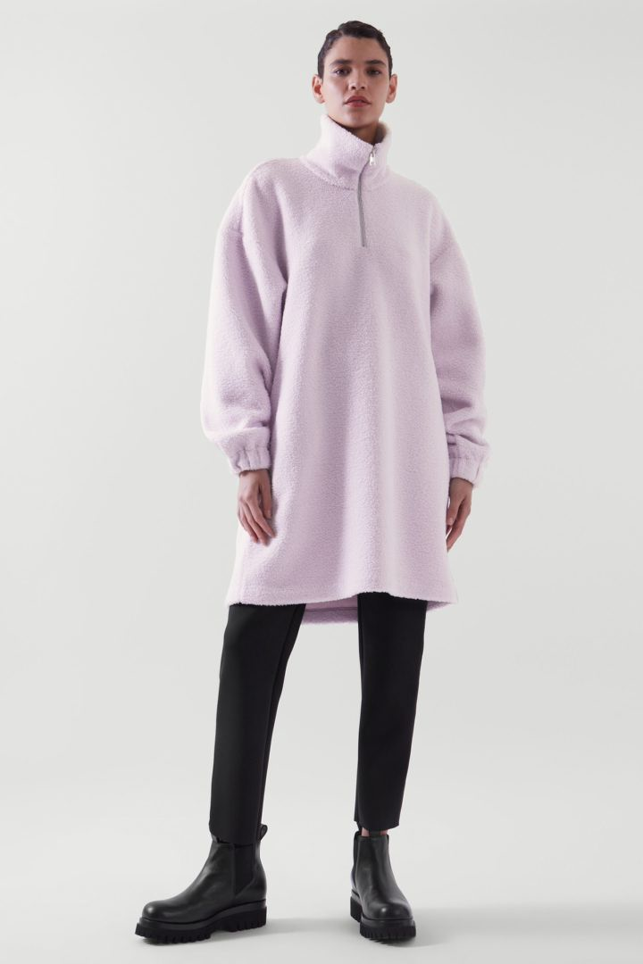 COS default image 6 of Purple in 테디 스웻셔츠 드레스