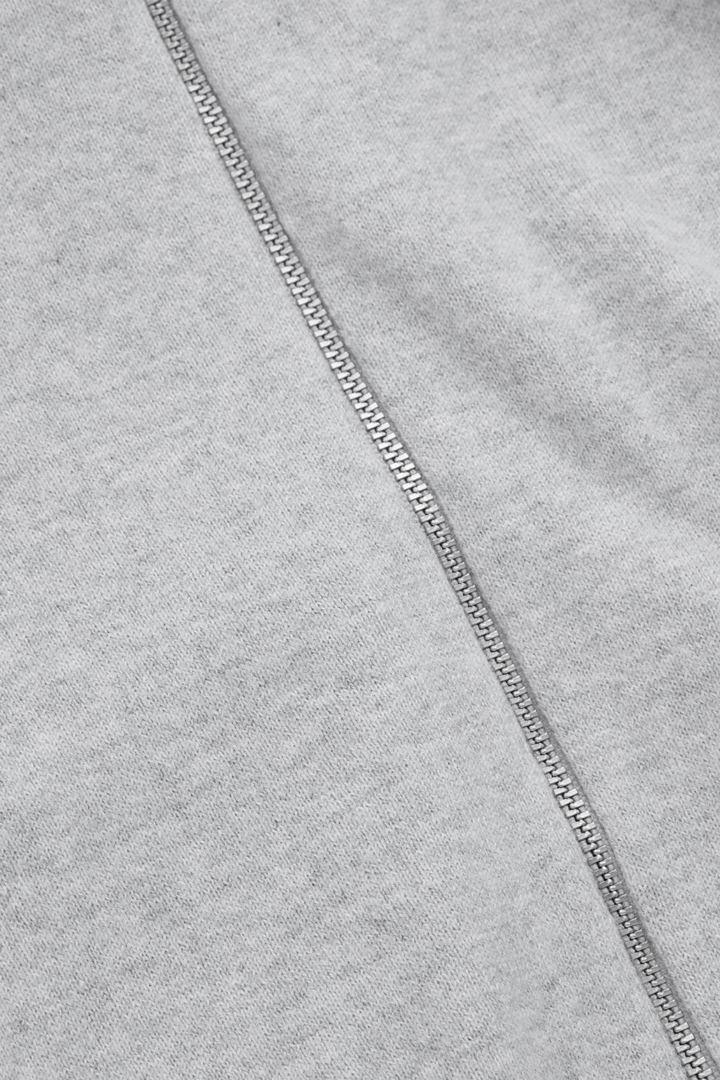 COS 오가닉 코튼 캐시미어 후디의 그레이컬러 Product입니다.