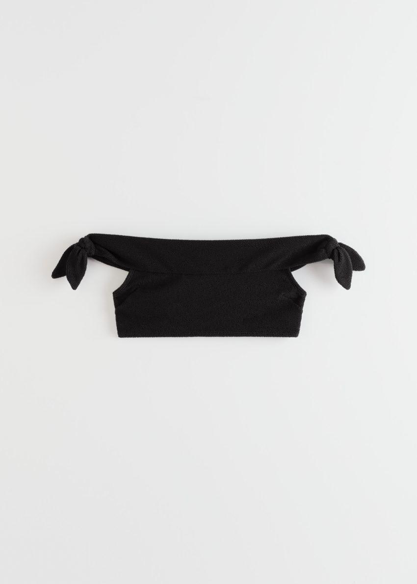 앤아더스토리즈 오프 숄더 방도 비키니 탑의 블랙컬러 Product입니다.