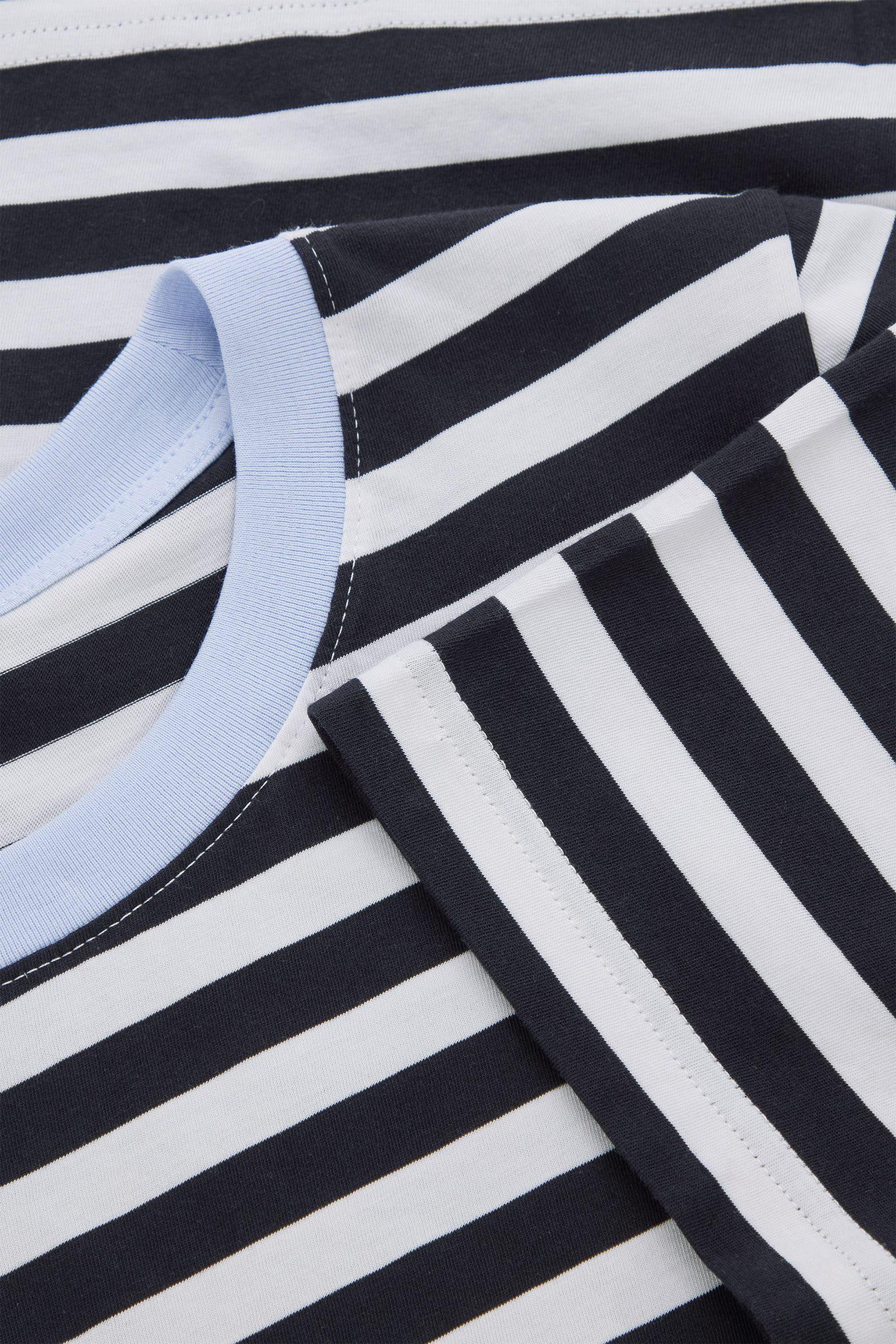 COS 코튼 저지 티셔츠의 블루 / 화이트컬러 Detail입니다.