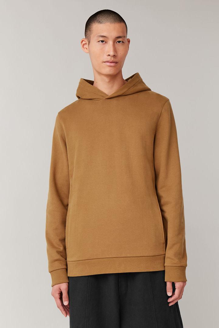 COS default image 3 of 옐로우 in 코튼 후디드 스웨터