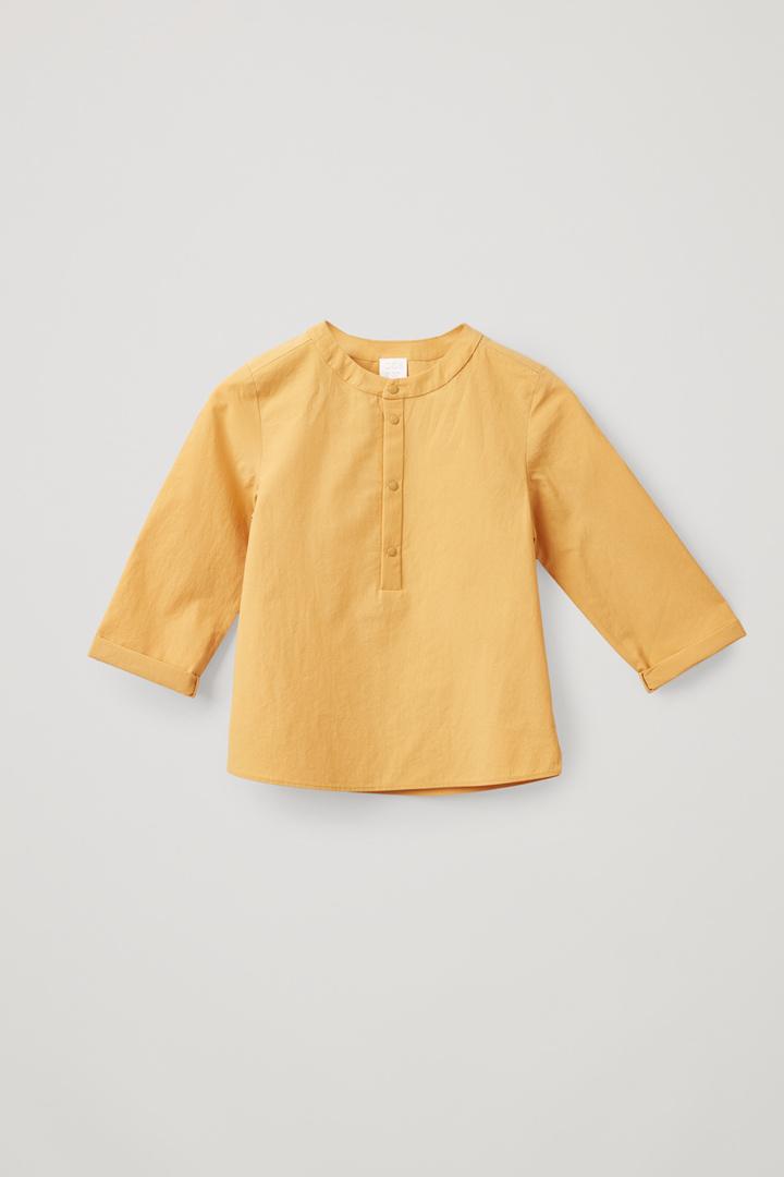 COS default image 1 of 옐로우 in 라이트 코튼 그랜대드 셔츠
