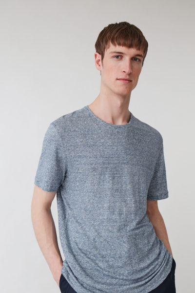 COS hover image 10 of 블루 in 쇼트 슬리브 리넨 티셔츠