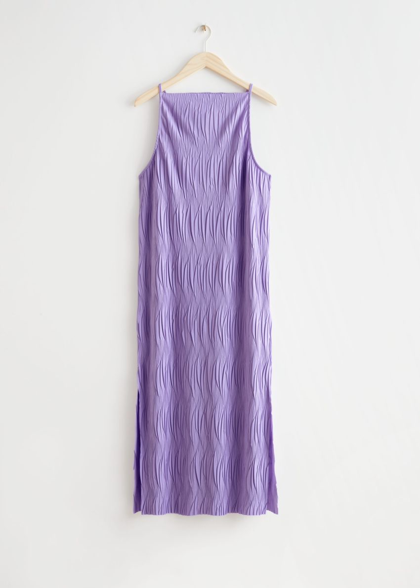 앤아더스토리즈 플리세 플리츠 맥시 드레스의 라일락컬러 Product입니다.