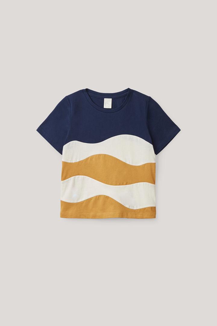 COS default image 2 of 블루 in 컬러 블록 오가닉 코튼 티셔츠