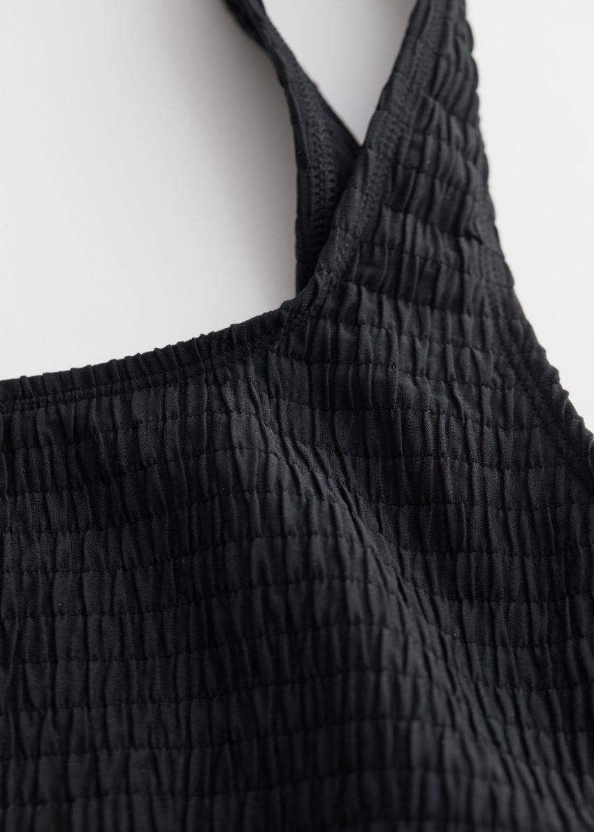 앤아더스토리즈 루시드 스퀘어 넥 비키니 탑의 블랙컬러 Detail입니다.