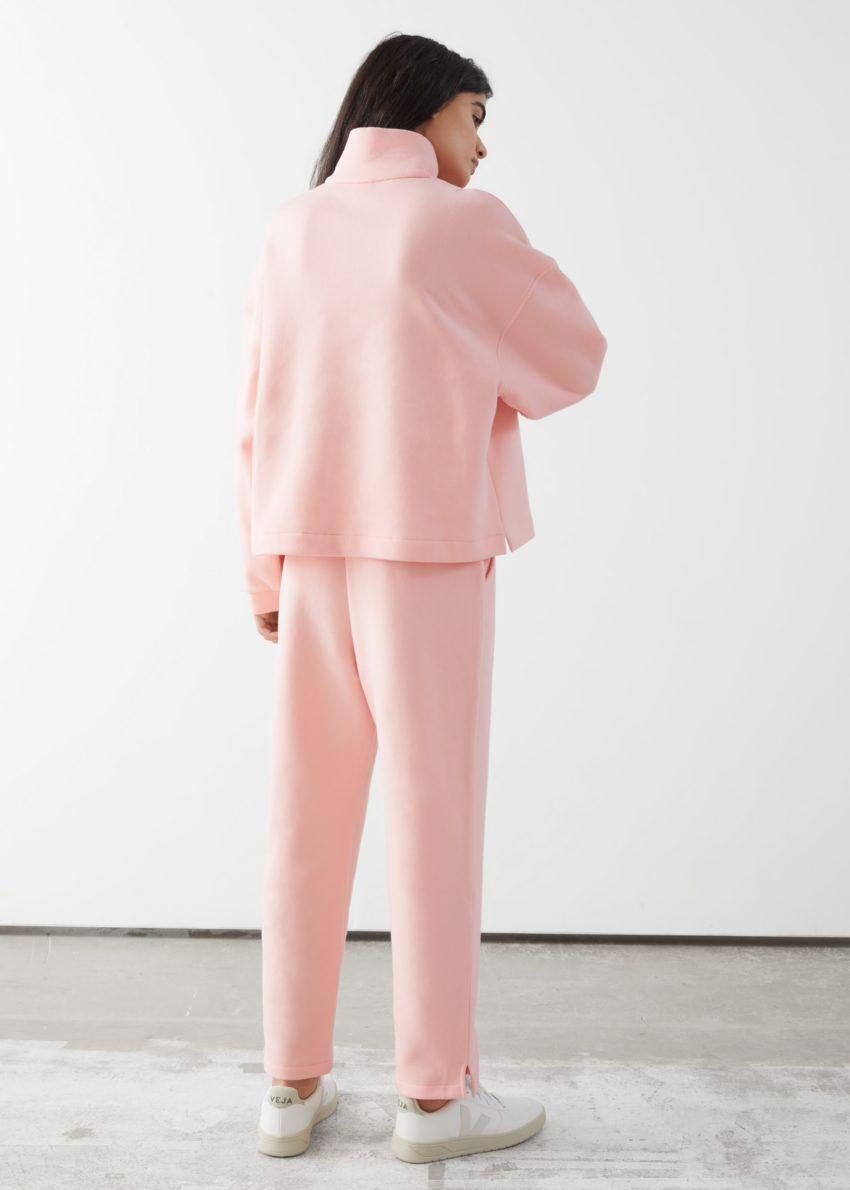 앤아더스토리즈 슬림 코튼 라운지 트라우저 의 핑크컬러 ECOMLook입니다.