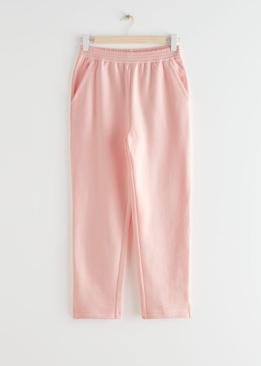앤아더스토리즈 슬림 코튼 라운지 트라우저 의 핑크컬러 Product입니다.