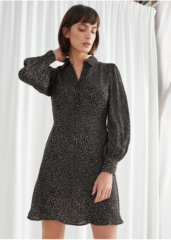 &OS image 10 of  in 프린트 미니 셔츠 드레스
