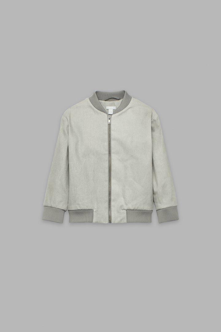 COS default image 4 of 그레이 in 히트 리액티브 봄버 재킷