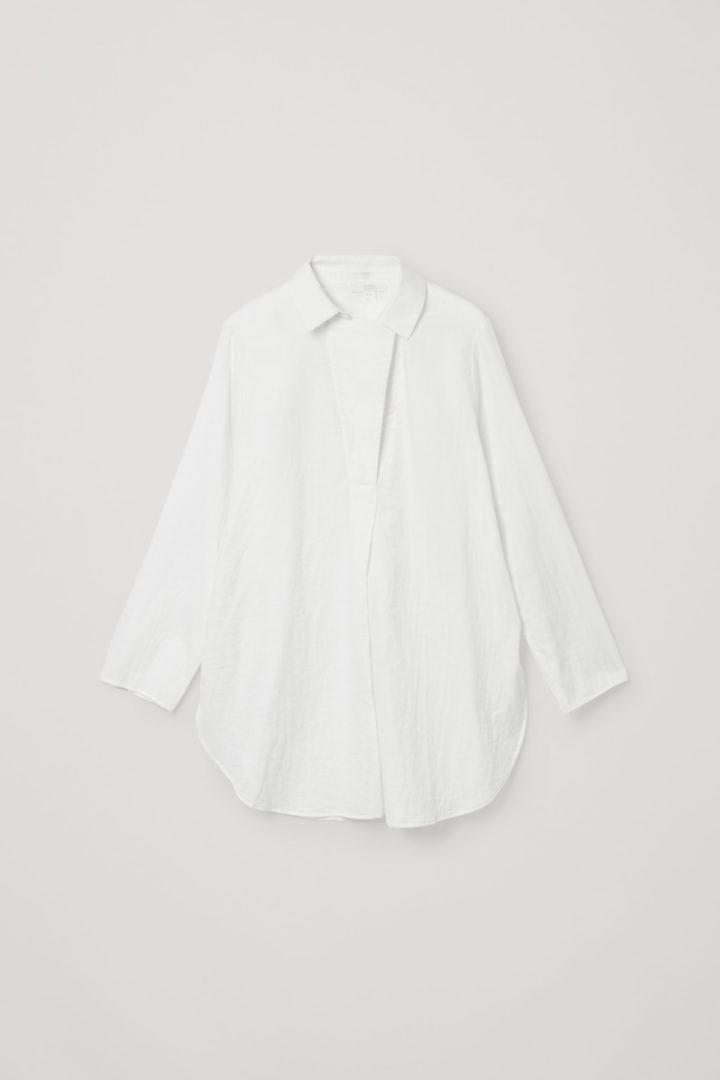 COS hover image 3 of 화이트 in 오버사이즈 라이트웨이트 셔츠
