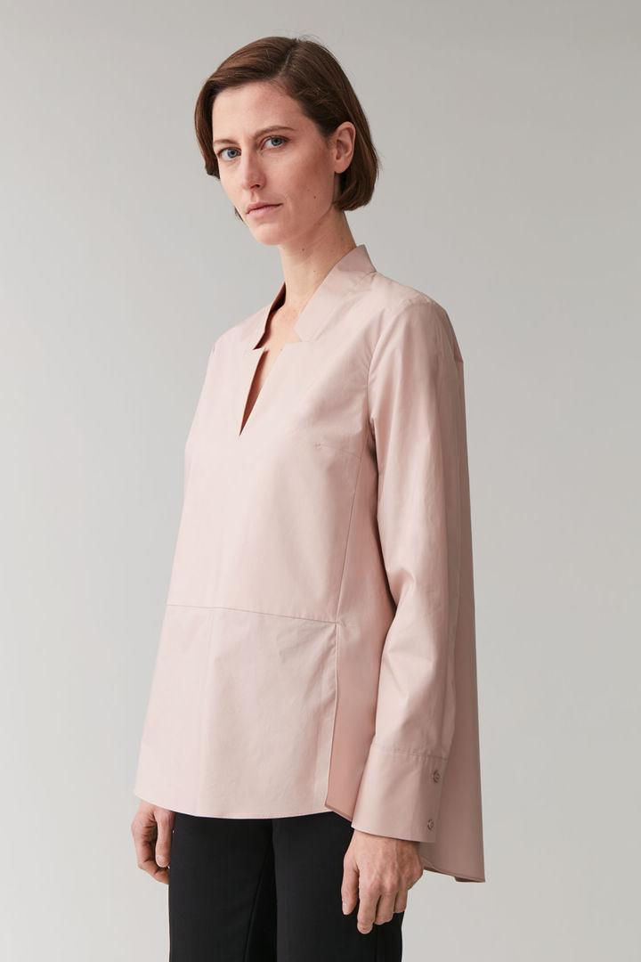COS default image 12 of 핑크 in 라펠 넥 코튼 셔츠