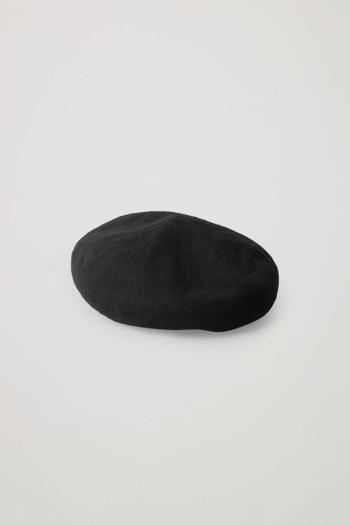 COS 오가닉 코튼 믹스 테크니컬 베레의 블랙컬러 Product입니다.