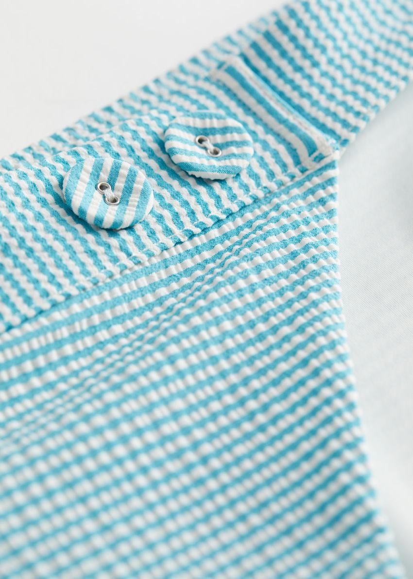 앤아더스토리즈 스트라이프 비키니 미니 브리프의 블루 스트라이프컬러 Detail입니다.