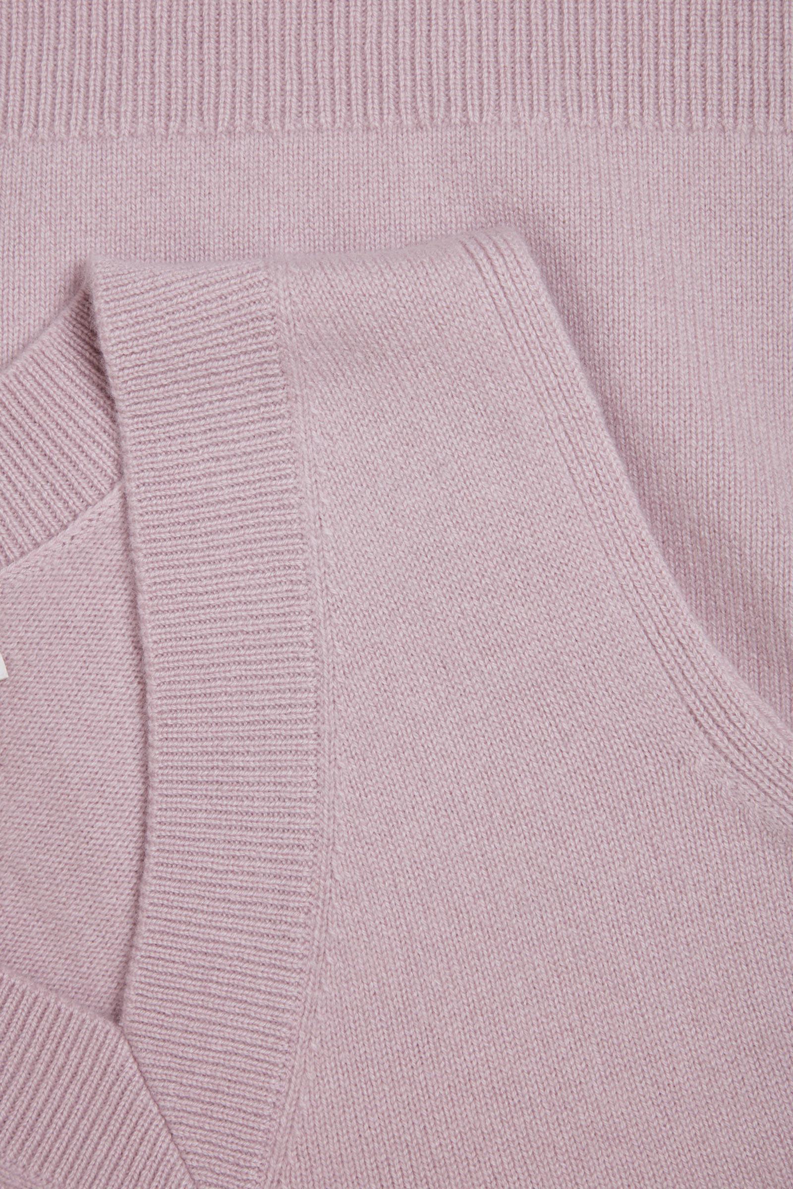 COS V넥 캐시미어 베스트의 핑크컬러 Detail입니다.