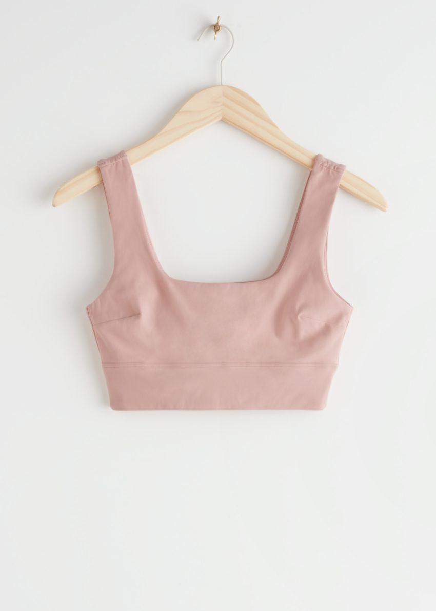 앤아더스토리즈 퀵-드라이 요가 브라의 라이트 핑크컬러 Product입니다.