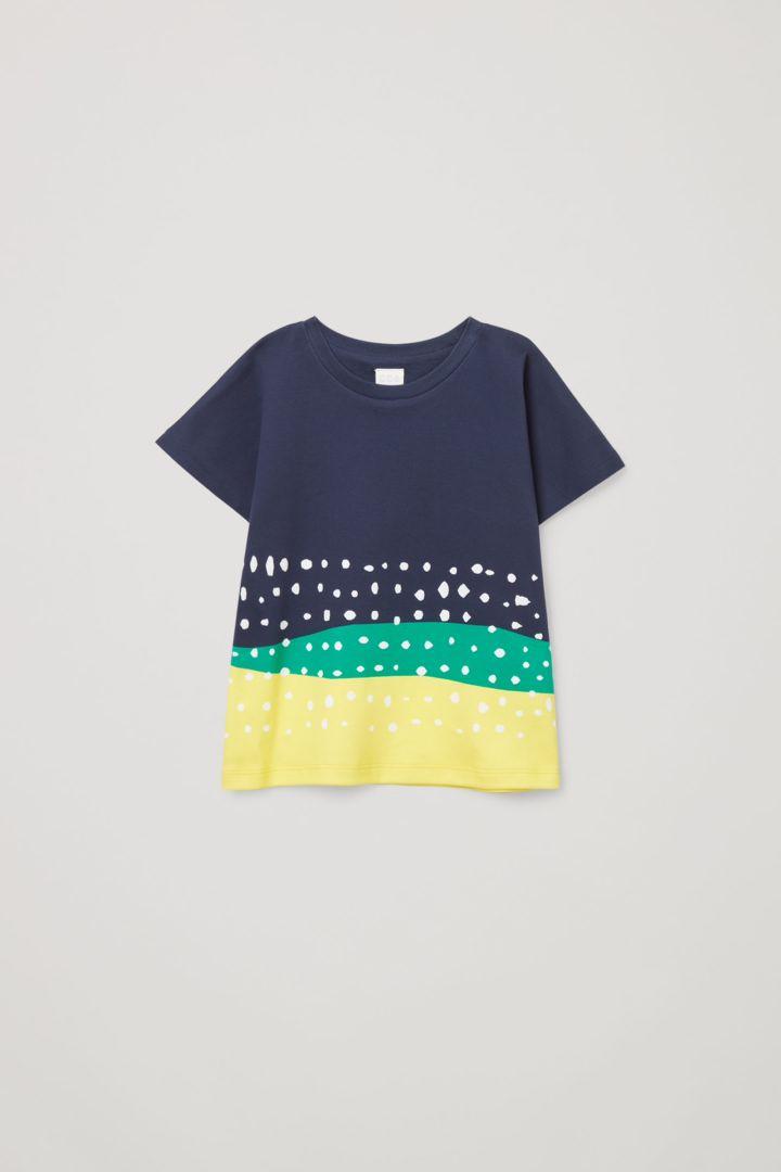 COS default image 2 of 블루 in 프린티드 티셔츠