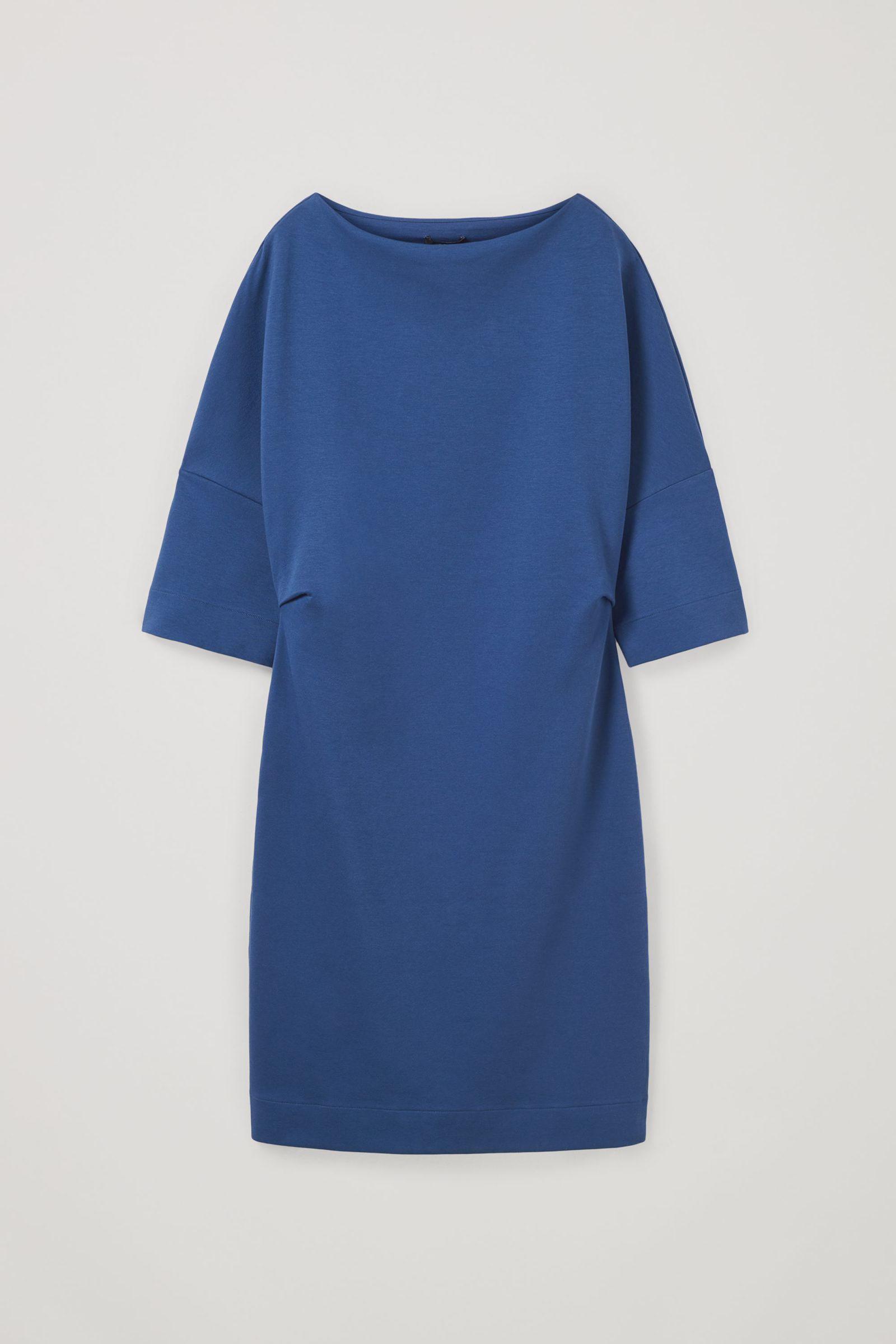 COS 코튼 믹스 티셔츠 드레스의 블루컬러 Product입니다.