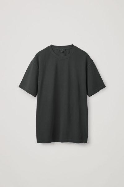 COS default image 11 of 블랙 in 릴랙스드 핏 티셔츠