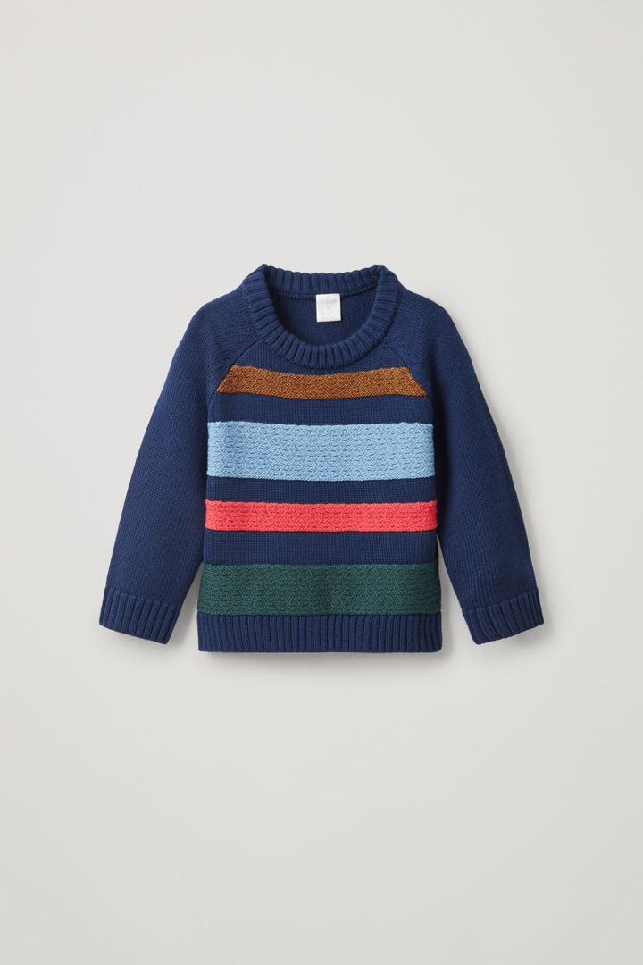 COS default image 5 of 그린 in 텍스처드 스트라이프 메리노 스웨터