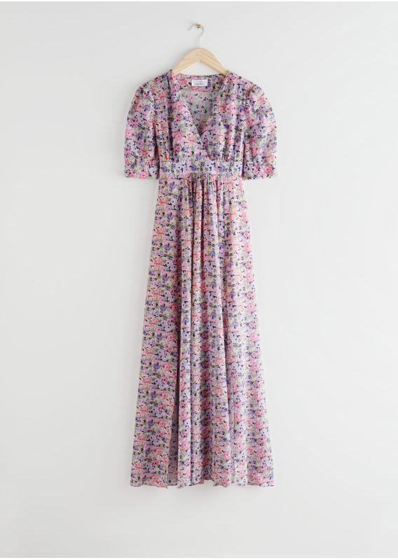 &OS image 3 of 핑크 플로럴 in 플로럴 프린트 맥시 드레스