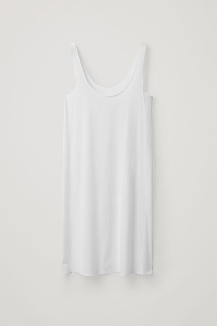 COS 심리스 슬립 드레스의 화이트컬러 Product입니다.