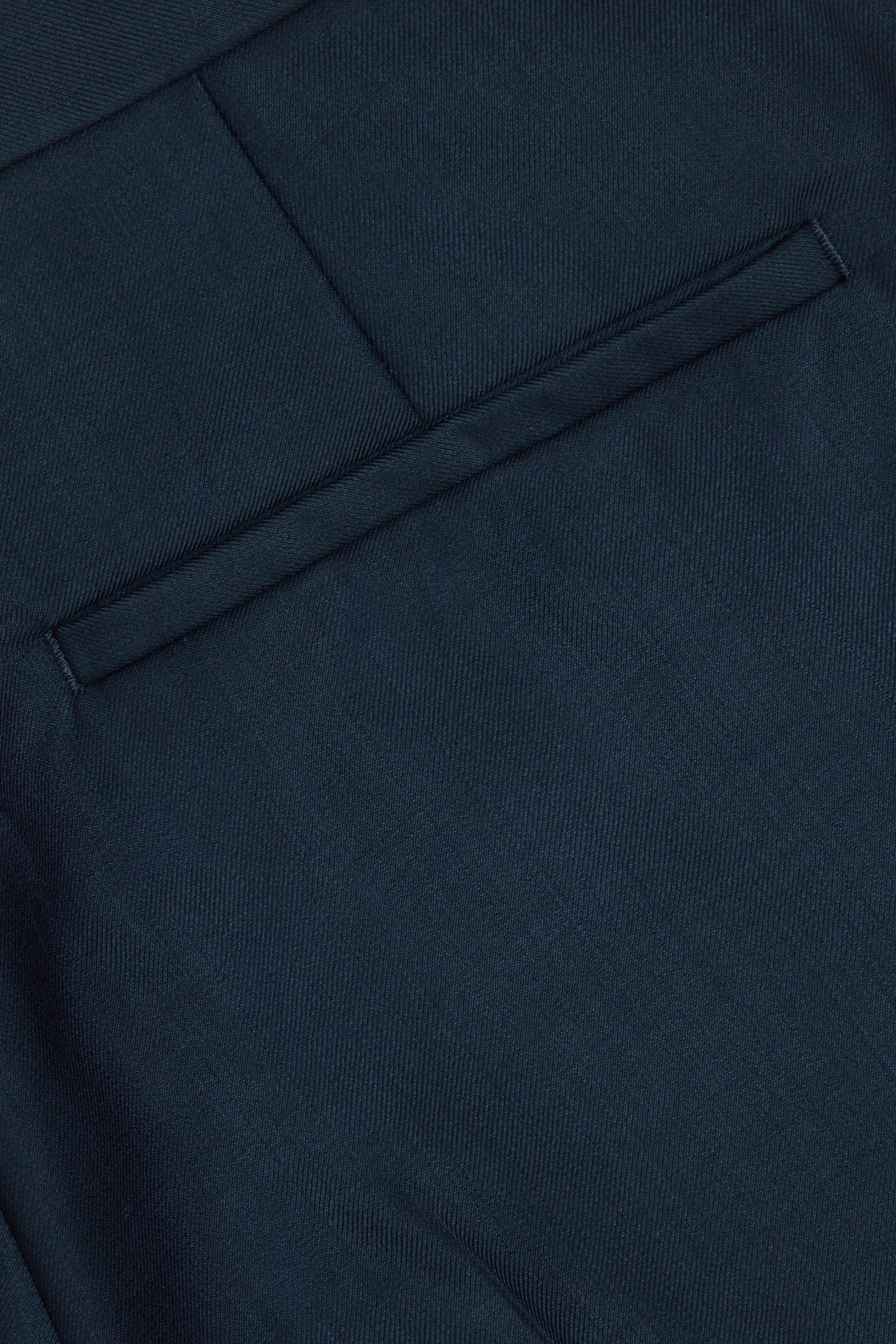 COS 슬림핏 울 트라우저의 네이비컬러 Detail입니다.