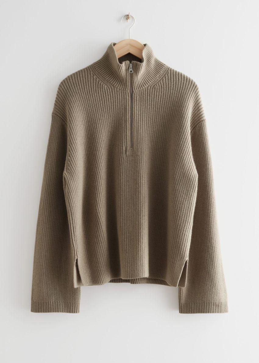 앤아더스토리즈 하프 집 스웨터의 몰컬러 Product입니다.