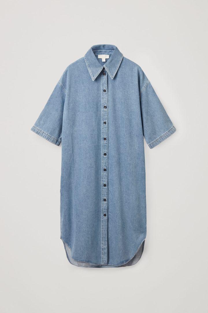 COS hover image 6 of 블루 in 데님 셔츠 드레스