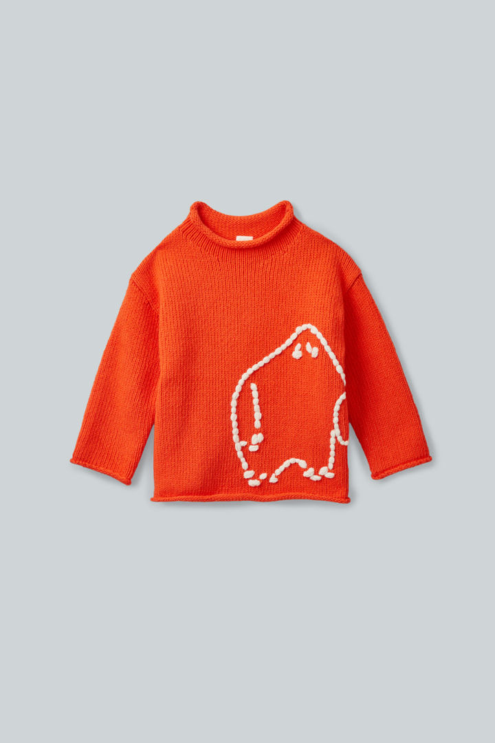 COS default image 1 of 오렌지 in 몬스터 아플리케 스웨터