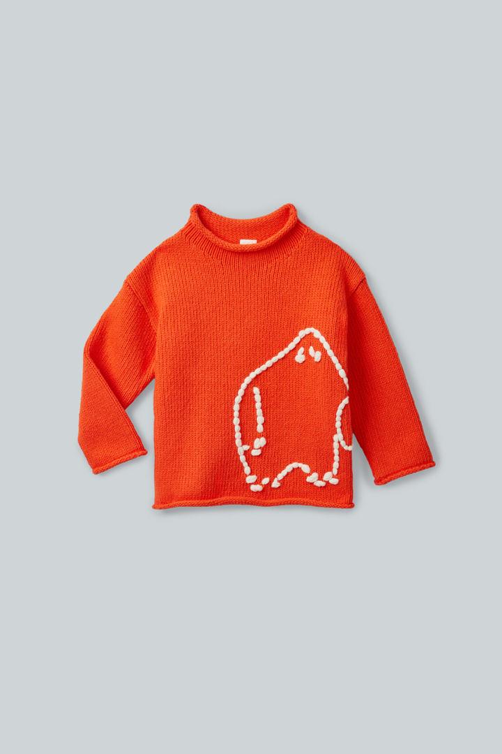 COS hover image 1 of 오렌지 in 몬스터 아플리케 스웨터