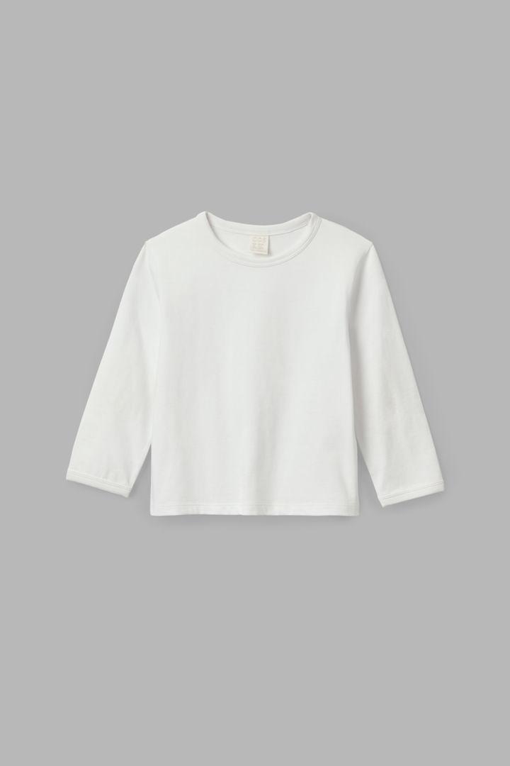 COS default image 9 of 화이트 in 엘보 패치 롱 슬리브 티셔츠