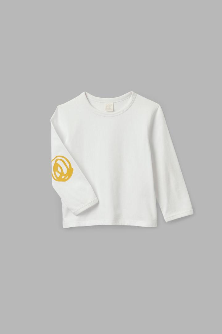 COS hover image 9 of 화이트 in 엘보 패치 롱 슬리브 티셔츠