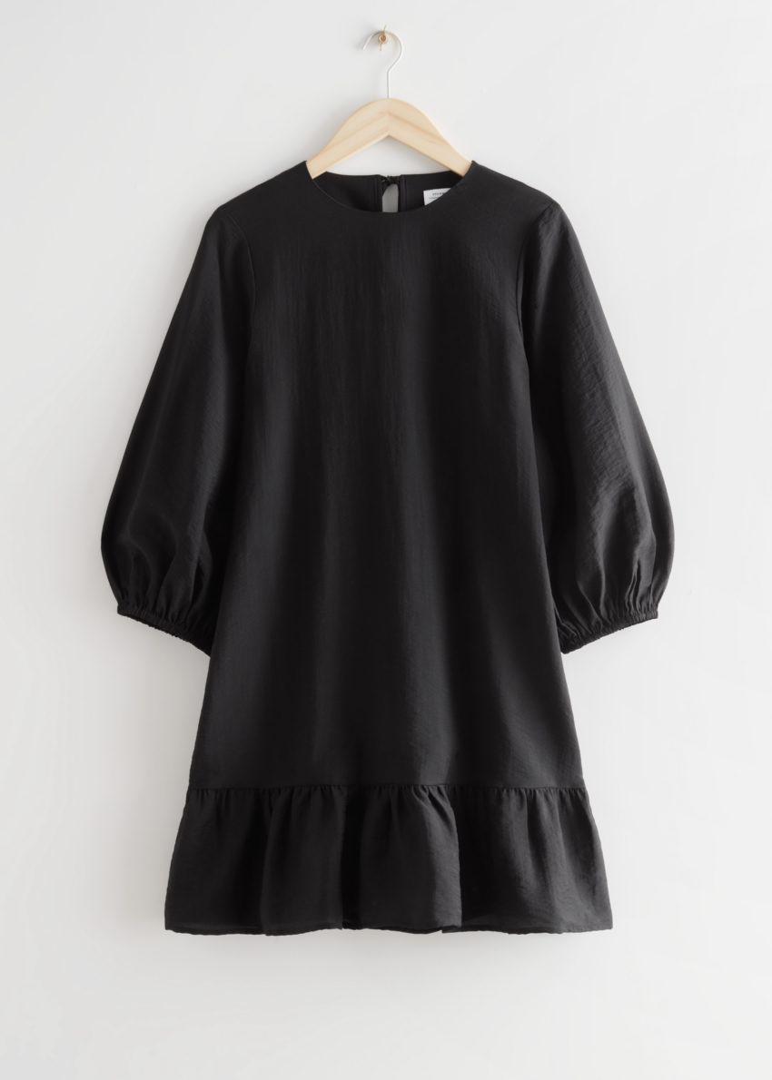 앤아더스토리즈 릴렉스드 A 라인 미니 드레스의 블랙컬러 Product입니다.