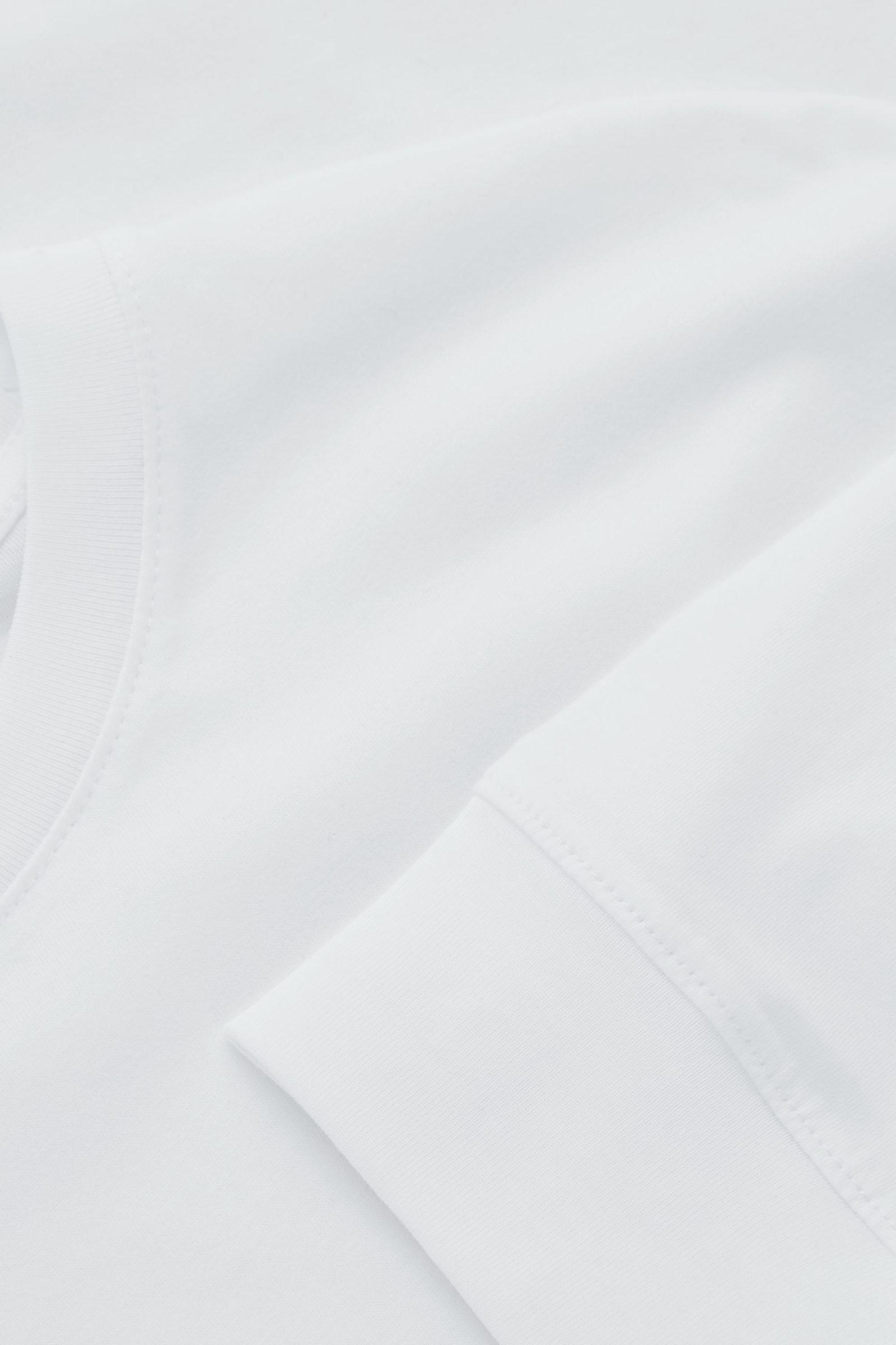 COS 브러쉬드 롱 슬리브 티셔츠의 화이트컬러 Detail입니다.