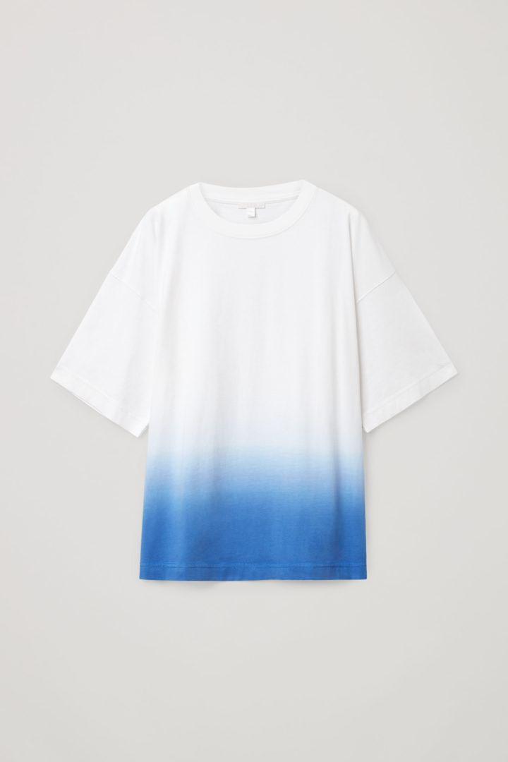 COS hover image 10 of 블루 in 릴랙스드 오가닉 코튼 티셔츠