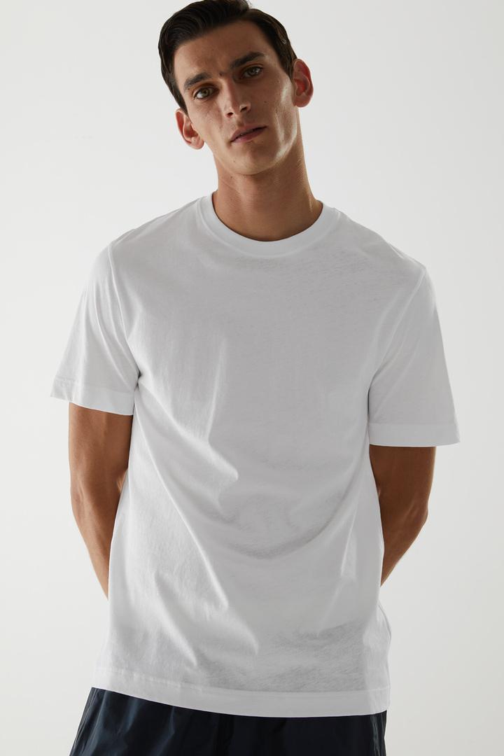 COS default image 8 of 화이트 in 오가닉 코튼 테크니컬 티셔츠