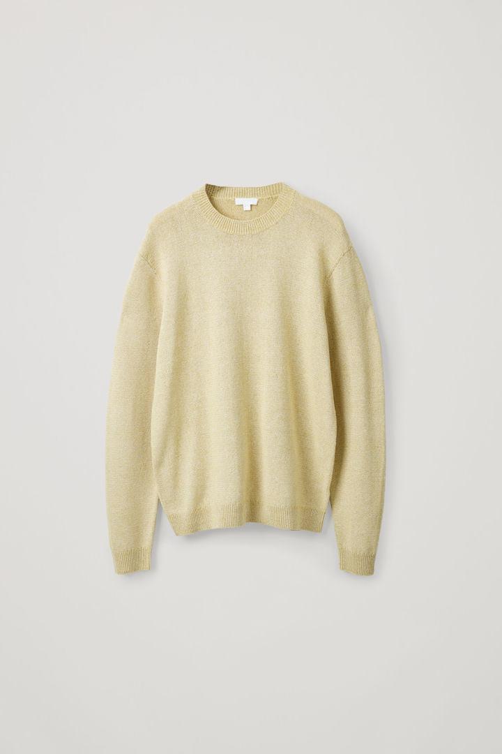 COS hover image 4 of 옐로우 in 텍스처드 니트 스웨터