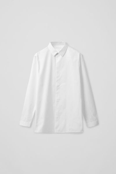 COS default image 6 of 화이트 in CAMP-COLLAR COTTON SHIRT