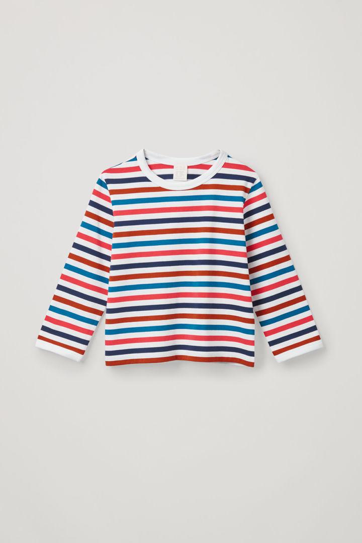 COS default image 6 of 화이트 in 엘보우 패치 롱 슬리브 티셔츠