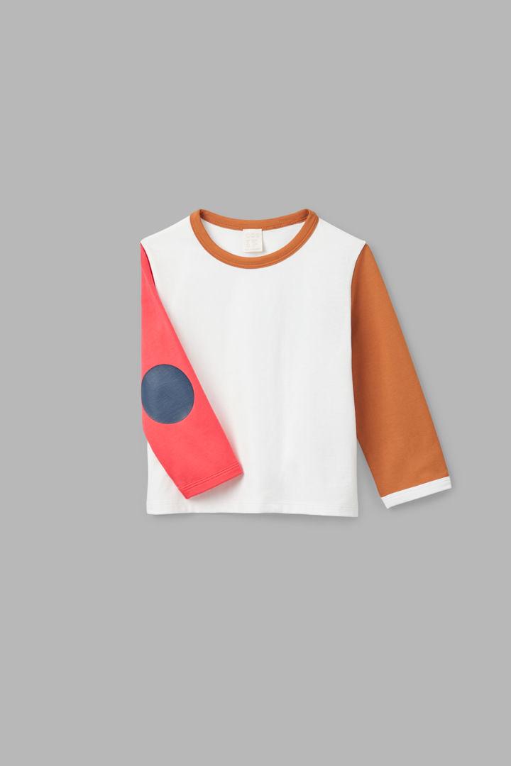 COS hover image 5 of 화이트 in 엘보우 패치 롱 슬리브 티셔츠